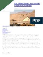 20180302 Collahuasi Obtiene Permiso Para Proyecto de USD302m Que Asegura Su Producción