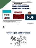 Planificación Curricular Con El Currículo Nacional. ROQUE, Willlean (2018)