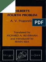 Hilbert's Fourth Problem. Aleksei v. Pogorelov