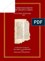 _NT Original Greek Byzantine Textform - 2005 Chilton Book Publishing