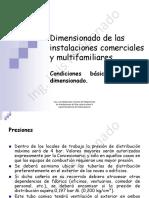 Dimensionado de Las Instalaciones Comerciales y Multifamiliares