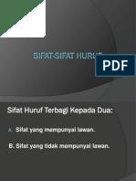 SIFAT-SIFAT HURUF