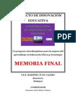 MEMORIA FINAL Construcción monumentos