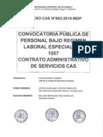 Proceso CAS N°002-2018-MDP