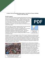 WaterCredit in Tamil Nadu, Water Partners Case Study