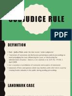 Sub Judice Rule