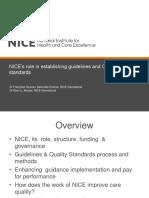 NI Webinar NICE Guidelines Standards