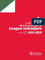 Plan Accion Lengua Extranjera