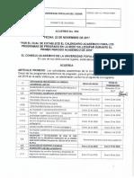 Acuerdo No. 052 Del 22 de Noviembre d - Calendario Académico 2018-1UPC
