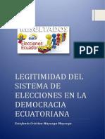 Legitimidad y Legalidad Electoral 2017
