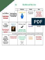 March 2018 Activity Calendar