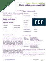 Bishops Stortford and District Scouts Newsletter - September 2010