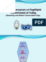 Kaparaanan Sa Pagtitipid -Elektrisidad at Tubig (Electricity and Water Conservation Tips)-2010