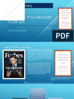 Book Summary---How Will You Measure Your Life