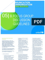Focus Group Discussion Guidelines