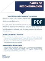 CARTA DE  RECOMENDACIÓN _esp