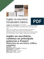 BUSINESS - Inglês No Escritório Vocabulário Básico