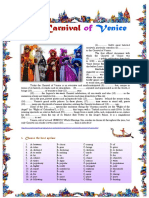 The Carnival of Venice Reading Comprehension Reading Comprehension Exercises 104642