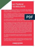 Lei federal 12933/2013