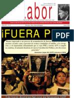 LABOR Año XVI N° 11  - Enero 2018, Vocero Oficial de la Confederación General de Trabajadores del Perú -CGTP-