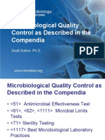 Microbiological Quality Control as Described in the Compendia