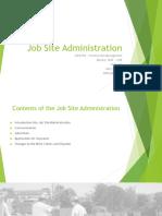 Job Site Administration