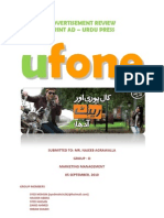 Ufone Advertisement Review Marketing