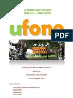 Ufone Advertisement Review Marketing