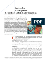 Cervical Radiculopathy Nonoperative Management of Neck Pain and Radicular Sympt