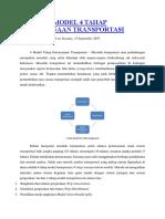 Analisis Model 4 Tahap Perencanaan Transportasi