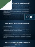 Signos y Síntomas Premorbidos del paciente psiquiatrico