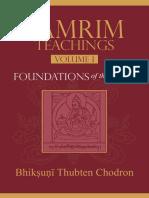 Lamrim Teachings 1 Foundation Thubten Chodron