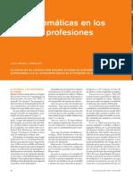 Las Matemáticas en los Oficios y Profesiones