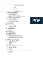 Civil Law 2 Course Outline
