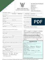 Visa Application Form Chennai