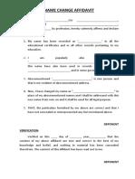 Name Change Affidavit Format