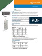 Datasheet GEL and AGM Batteries En