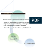 Managing International Cooperation for Organizational