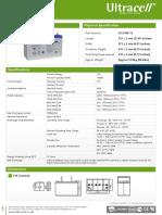 Date Tehnice Acumulator Vrla Ultracell Cu Gel 12v 100ah Ucg100 12 Pret Palet Intreg 445