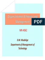 Organizational Behavior Lec 1