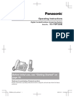 Panasonic KX-TGF320E - User Manual