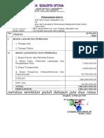 Data 12 Penawaran Biaya