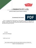 Arpit Certificate