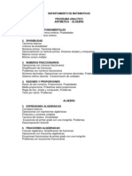 as Programa Analitico Aritmetica