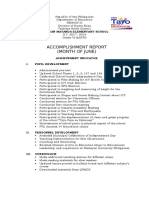 Accomplishment Report sample