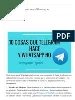 10 Cosas Que Telegram Hace y WhatsApp No