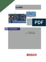 Bosch Solution 6000 - Installation Guide