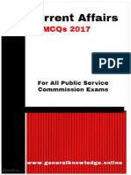 Current Affairs MCQs for the Preparation of Competitive Exams Download PDF