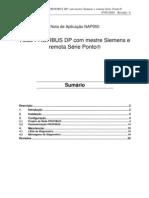 Rede Profibus DP Com Mestre Siemens Remota Serie Ponto NAP050