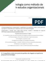 A Fenomenologia Como Método de Pesquisa Em Estudos